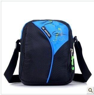 Shoulder small bag men and women messenger bag travel bag sports backpack casual bag mini tide bag outdoor nylon mobile phone bag (Sky blue color)