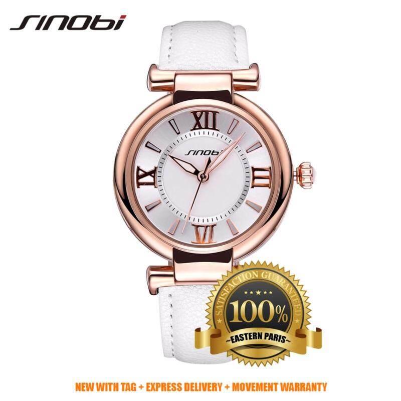 Sinobi Luxury Fashion Ladies Women Quatz Watch S9458 (White Gold) Malaysia