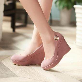 Slip On Closed Toe Wedges LLS16060557 PINK