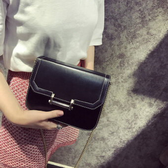 Small Square Korean-style free cross-body small bag women's bag (Black)