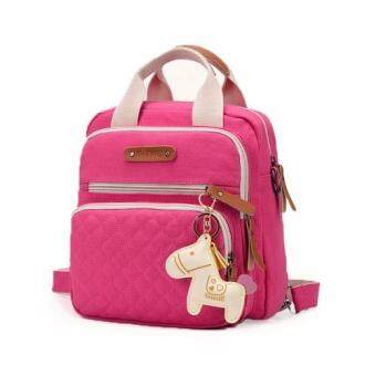 SOKANO POKOKO lil Horse 3ways canvas mummy Bag_Pink
