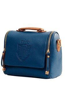 SoKaNo Trendz CROWN Premium PU Leather Crown Crossbody Bag- Dark Blue