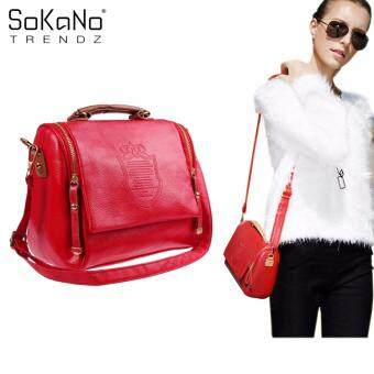 SoKaNo Trendz Crown Premium PU Leather Crown Crossbody Bag- Red