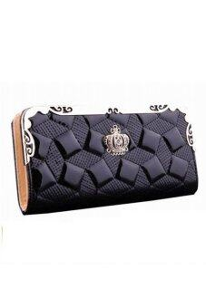 Sokano Trendz Elegant Crown PU Leather Clutch (Black)