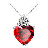 SoKaNo Trendz N29 Australian Crystal Series Loyal Love Necklace - Red + Gift Box