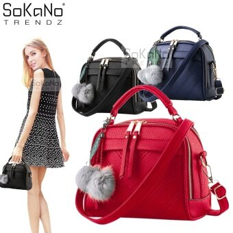 SoKaNo Trendz SKN607 Premium PU Leather Crossbody Bag- Red