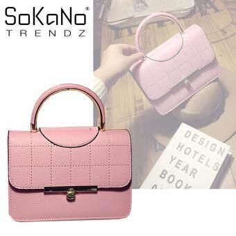 SoKaNo Trendz SKN621 PU Leather Premium Crossbody Bag - Pink