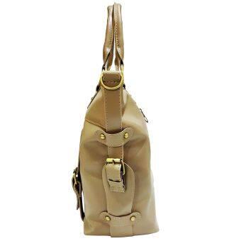 SoKaNo Trendz SKN817 Large Capacity Premium PU Leather Bag- Light Khaki