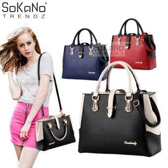 SoKaNo Trendz SKN818 Premium European Style Elegant Tote Bag- Black