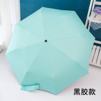 Harga Solid color fully automatic parasol umbrella (Blue green) (Blue green)