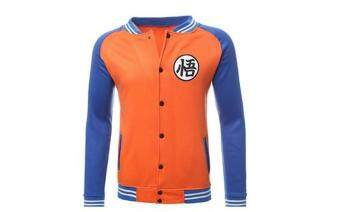 Harga Spring and autumn men's animation Baseball Jacket seven dragon balljacket coat (orange)