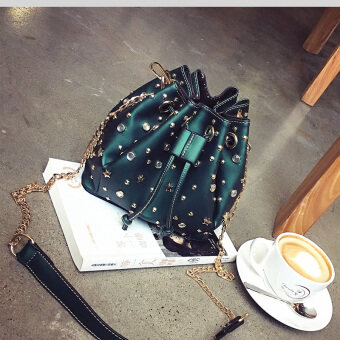 Harga Spring New style matte small bag (Green) (Green)