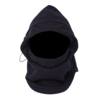 SumDirect 6 in 1 Thermal Hat Bike Wind Stopper Face Mask New CapsNeck Warmer(Black)