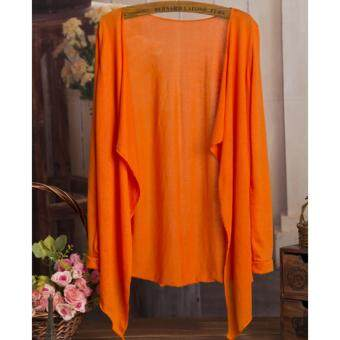 Summer Thin Cardigan 2017 Summer Wear-Orange