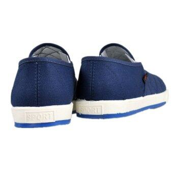 Teamtop Fashion Mens Canvas Driving Shoes Breathable Slip On Loafers Casual Cotton Shoes - 3