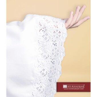 Telekung Siti Khadijah Klasik Faatiha (White) (One set - Telekung & Kain)