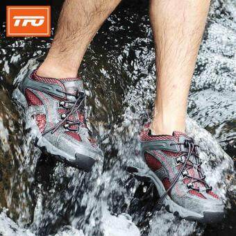Harga TFO Mesh Aqua Shoes Breathable Quick-Dry Anti-Slippery Water ShoeMen Sport Summer Water Shoes in Water Beach Upstream Shoes