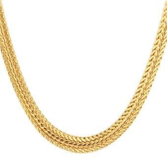 "Harga U7 22"" Hot 18K Real Gold Plated Chain Necklace (Gold)"