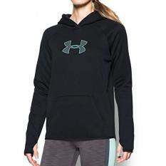 under armour winter jackets. under armour womens storm ua logo hoodie, black/crystal, small winter jackets