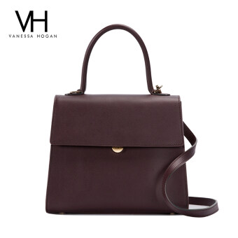 Vanessa New style leather handbag women's bag (Dark red color 3)