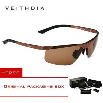 Harga VEITHDIA Aluminum Magnesium Polarized Lens Mens Sunglasses DriverMirror Sun glasses Male Fishing 6501 (Brown) [ free gift ]