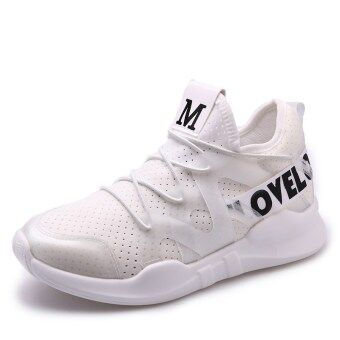 Versatile female student shoes women's shoes (Pure white) (Pure white)