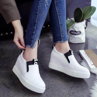 Harga Women Casual Shoes High Tops Breathable Wedges Platform WomanSummer Autumn High Heel Wedge Boots