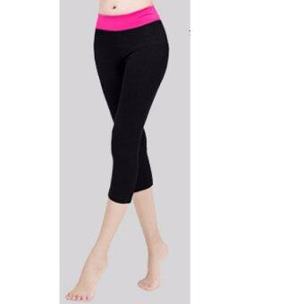 Women Ladies Modal Yoga Running Leggings Sport Pants Gym Fitness Sportswear 3/4 Trousers