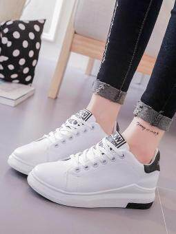 Women's Sport Shoes Simple Design Casual Sneakers (White) - 3