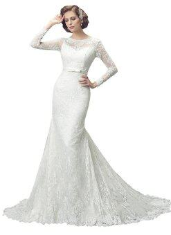 Harga Women's Lace Long Sleeves Mermaid Wedding Dresses