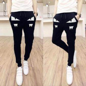 Harga Youth Slim fit skinny harem pants Korean style sports pants (Small monster white)