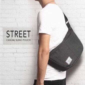 Harga YSLMY Street Casual Outing Messenger Sling Pouch Bag Backpack ForMen & Women (Black)