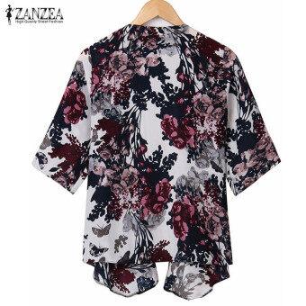Jual ZANZEA Women Floral Print Kimono Cardigan Boho Half Sleeve ...