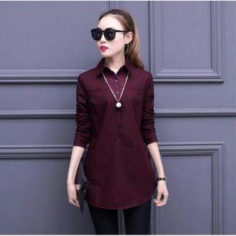 Harga ZASHION Korean-Styled Shirts | Tops Collections (Wine)