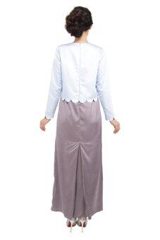 ZAWARA for LAZADA Arella Dress Dusty Blue - 2
