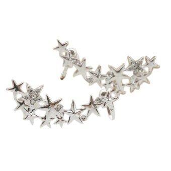 1 pair fashion silver ear bone clip earrings lazada malaysia