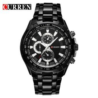 Harga [100% Genuine]CURREN 8023 Mens Watches Top Brand Luxury MenMilitary Wrist Watches Full Steel Men Sports Watch Waterproof