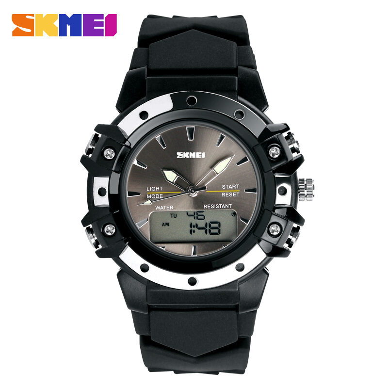 [100% Genuine]Skmei Casual Wristwatches Digital & Analog Multifunction Quartz Watch 30m Waterproof Student Sports Watches for Women Men Clock Malaysia