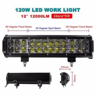 12 Inch OSRAM 120W LED Flood/Spot Combo Work Light Bar OffroadDriving 4WD Truck ATV
