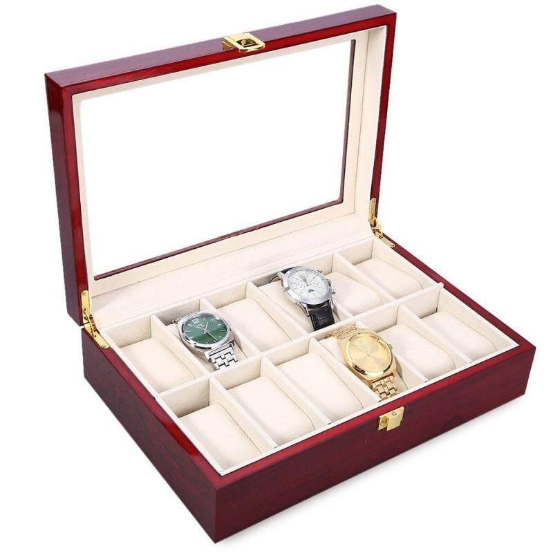 12 Slots Wood Watch Display Case Watches Box Malaysia