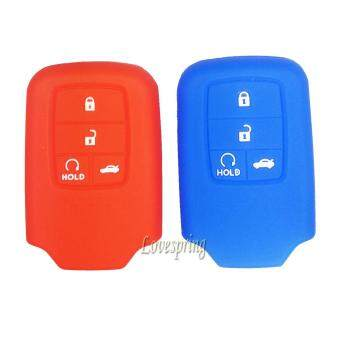 Harga 152194689840silicone car key fob cover case for Honda 2015 2016Pilot Accord Civic Fit Freed