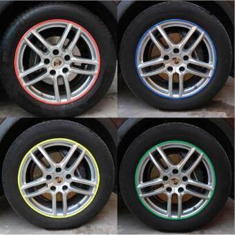 16 Pcs DIY Decorative Wheel Decal Reflective Car Motorbike RimStripes Wheel Tape Tyre Sticker Tire Sticker BLUE