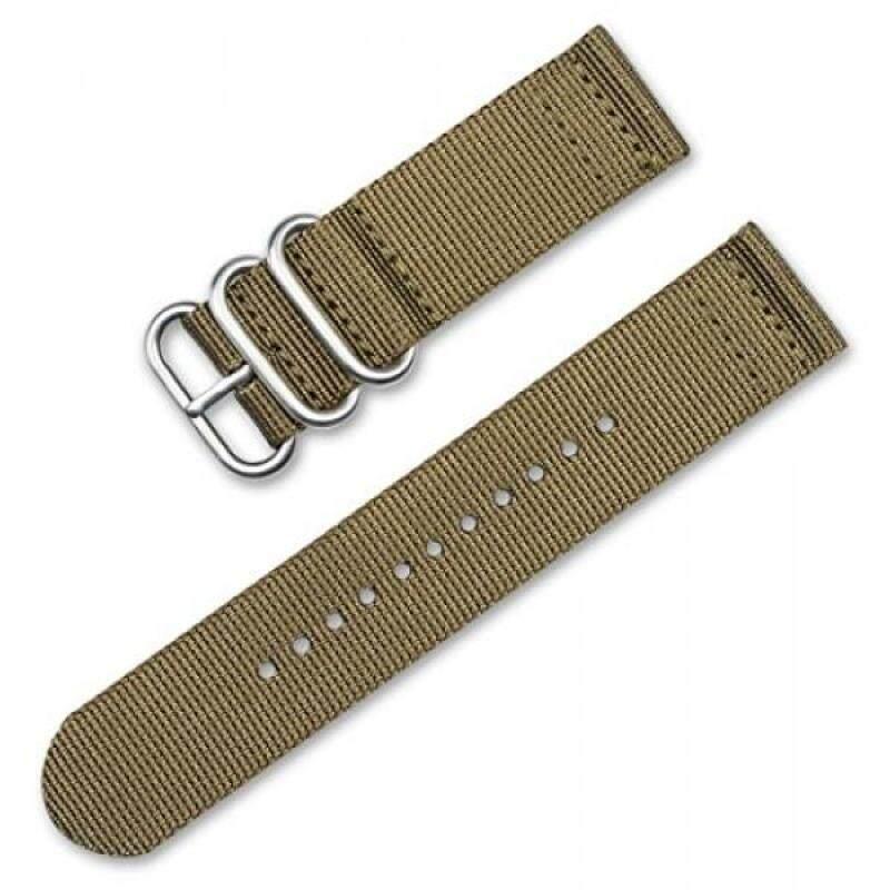 18mm Military RAF Style Ballistic Nylon 2-Piece Watch Band - Khaki Malaysia
