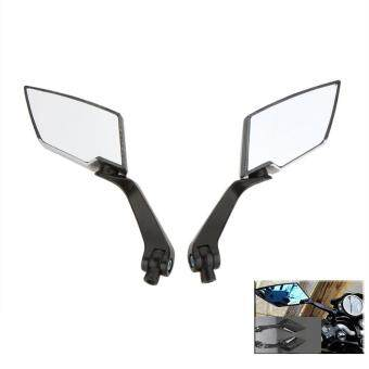 Harga 1Pair HD Side Rear Backup View Mirrors for Motorcycle MotorbikeHonda Yamaha Suzuki Kawasaki