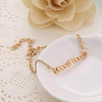 Harga 2 PCS Women Best Friend Bangle Bracelets Chain Bracelet
