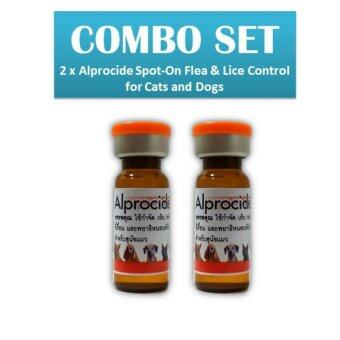 2 x Alprocide Spot-On Flea & Lice Control for Cats and Dogs