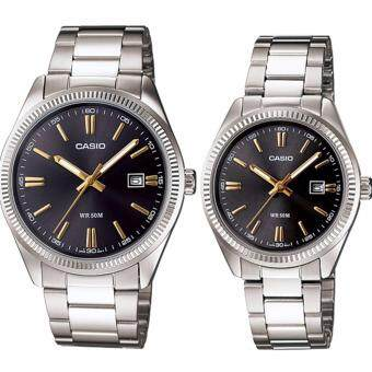 Harga (2 YEARS WARRANTY) Casio ORIGINAL MTP-1302D-1A2 & LTP-1302D-1A2Analog Couple Watch