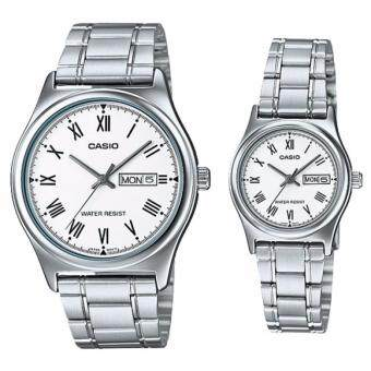 Harga (2 YEARS WARRANTY) CASIO ORIGINAL MTP-V006D-7B & LTP-V006D-7BCOUPLE WATCH