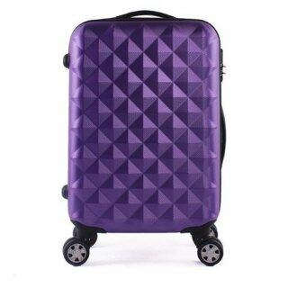20 Inch ABS Lightweight Diamond Luggage - Purple