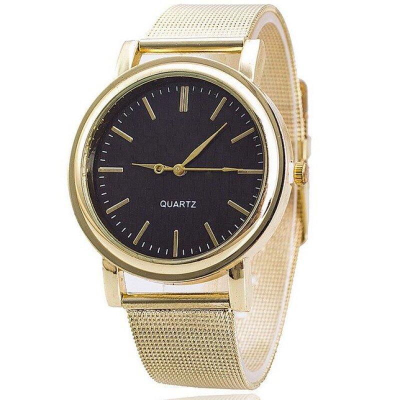 2016 Korea Fashion High Quality Quartz Watches Luxury Brand Gold Black Malaysia